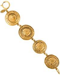 Chanel - Medallion Link Bracelet Gold - Lyst