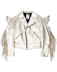 64e1674ee835 Jeremy Scott for adidas - Gold Wing Moto Jacket Metallic - Lyst