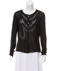 John Galliano - Embellished Knit Cardigan - Lyst