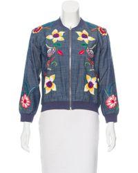 Banjanan - Embroidered Chambray Jacket W/ Tags - Lyst