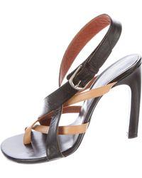 0e49e6a39fa Dries van noten Suede Multistrap Sandals Silver in Metallic