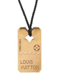 Louis Vuitton - 18k Dog Tag Pendant Necklace Rose - Lyst