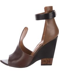 Givenchy - Semi-wedge Leather Sandals Beige - Lyst