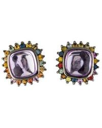 M.c.l  Matthew Campbell Laurenza - Amethyst, Sapphire, & Enamel Earclip Earrings Silver - Lyst