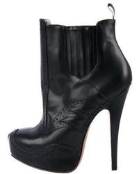 Vivienne Westwood Anglomania - Leather Platform Ankle Boots - Lyst