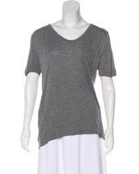 T By Alexander Wang - Lightweight Short Sleeve Top Grey - Lyst