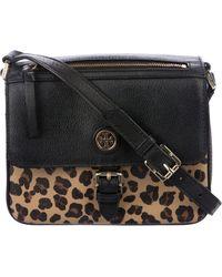c55970e0d80 Lyst - Tory Burch Duet Chain Color Block Micro Shoulder Bag in Black