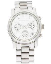 0e8c8e5adec0 Lyst - Michael Kors Layton Chronograph Watch Silver in Metallic for Men