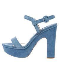 Paul Andrew - Stanton Platform Sandals Blue - Lyst