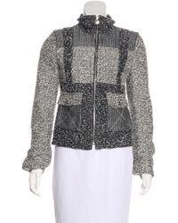Chanel - Colorblock Tweed Jacket Grey - Lyst