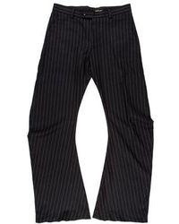 John Galliano - Striped Wool Flared Pants - Lyst