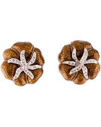 Judith Leiber - Crystal & Enamel Heirloom Tomato Earrings Gold - Lyst