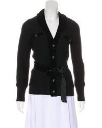 Magaschoni - Velvet-trimmed Wool Jacket - Lyst