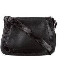 Cartier - Snakeskin-trimmed Messenger Bag Black - Lyst