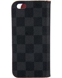 Louis Vuitton - 2016 Damier Graphite Iphone 6 Folio - Lyst