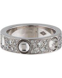 louis vuitton 18k diamond empreinte ring white lyst