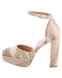 M Missoni - Metallic Platform Sandals W/ Tags - Lyst