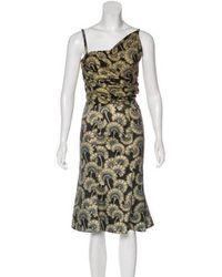Just Cavalli - Floral Print Dress Black - Lyst