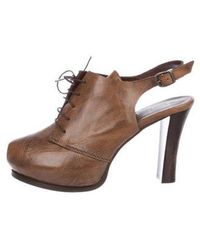 Henry Beguelin - Leather Peep-toe Booties - Lyst