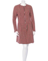 Hache - Raw-edged Houndstooth Coat Red - Lyst