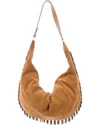 811c6e2ea226 The Row - Sling 19 Suede Fringe Hobo Gold - Lyst