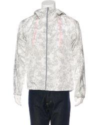 Jil Sander - Printed Lightweight Windbreaker Jacket Grey - Lyst