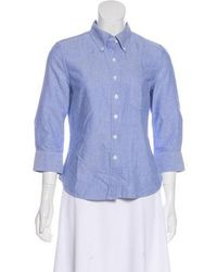 Boy by Band of Outsiders - Chambray Button-up Top - Lyst