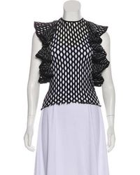 Beaufille - Ruffle-accented Perforated Top - Lyst