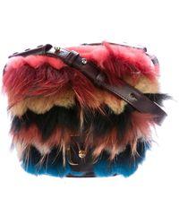 Paula Cademartori - Fur-trimmed Beth Shoulder Bag Gold - Lyst