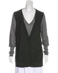 Peter Som - Merino Wool Cardigan Grey - Lyst