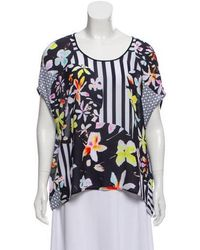 Clover Canyon - Printed Cold-shoulder Top - Lyst