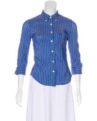 Boy by Band of Outsiders - Stripe Button-up Top - Lyst