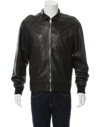 Dior Homme - Leather Bomber Jacket - Lyst