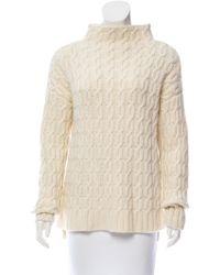Miu Miu - Miu Wool-blend Mock Neck Sweater Wool - Lyst