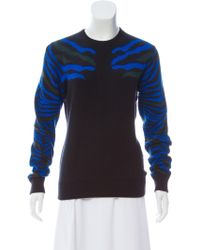 Torn By Ronny Kobo - Intarsia Crew Neck Sweater - Lyst