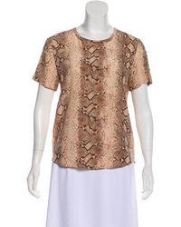 Equipment - Short Sleeve Silk Top - Lyst