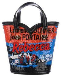 Olympia Le-Tan - Mini Beaded Rebecca Bag Black - Lyst