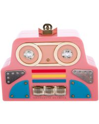 Charlotte Olympia - Cobot Clutch Pink - Lyst