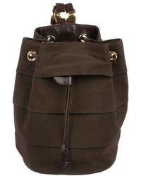 Ferragamo - Tiered Grosgrain Backpack Brown - Lyst