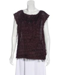 MAX&Co. - Textured Sleeveless Top W/ Tags - Lyst