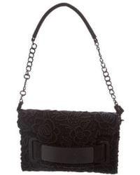 Blumarine - Guipure Lace Shoulder Bag Black - Lyst