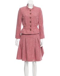 Chanel - Cashmere Skirt Suit Pink - Lyst