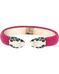 bvlgari serpenti contraire cuff bracelet gold lyst