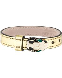 bvlgari serpenti cuff bracelet gold lyst