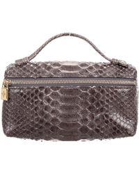 Loro Piana | Python Mini Handle Bag | Lyst