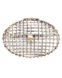 Anndra Neen - Oval Caged Clutch Gold - Lyst