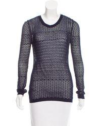 Nina Ricci - Long Sleeve Knit Top - Lyst