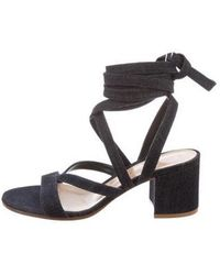 128c856c54e8 Lyst - Gianvito Rossi Janis Suede Sandals W  Tags in Black
