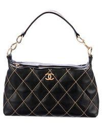 da88edc633be Lyst - Chanel Surpique Drawstring Bucket Bag Silver in Metallic