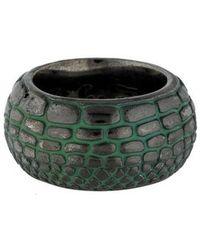 M.c.l  Matthew Campbell Laurenza - Engraved Enamel Ring Silver - Lyst